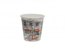 Стакан картонный одинарный под горячие напитки  Паперскоп Big City, 165 мл, 80 шт./упак.