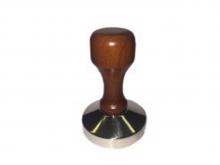 Темпер, стальной с тонкой деревянной ручкой коричневый, основание 58 мм