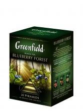Чай черный Greenfield Blueberry Forest (Гринфилд Блюберри Форест), 20 пакетиков, в пирамидках