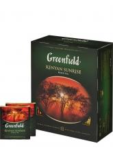 Чай черный Greenfield Kenyan Sunrise (Гринфилд Кения Санрайз), упаковка 100 пакетиков
